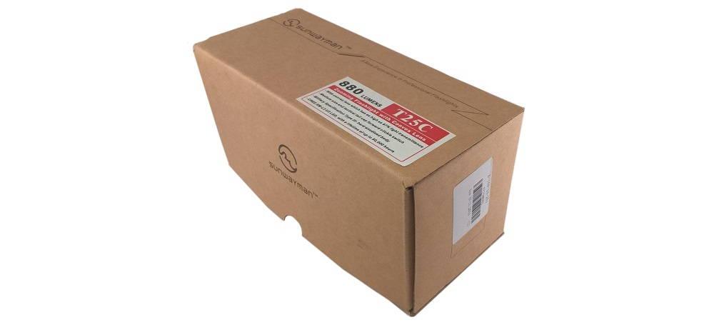 Sunwayman T25C csomagolása