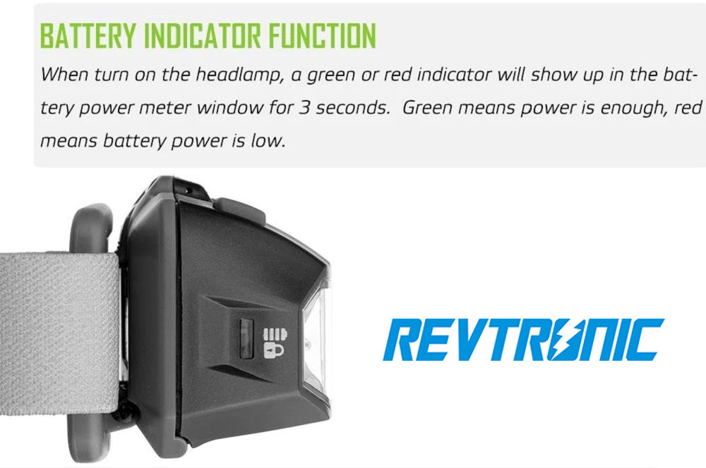 Revtronic HL3A ULTRA battery indicator banner