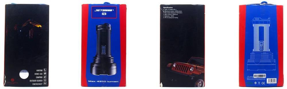 JETBeam T6 doboz oldalai