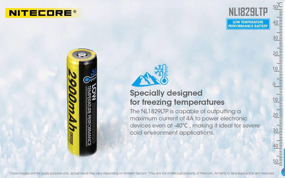 Nitecore NL1829LTP low temperature banner
