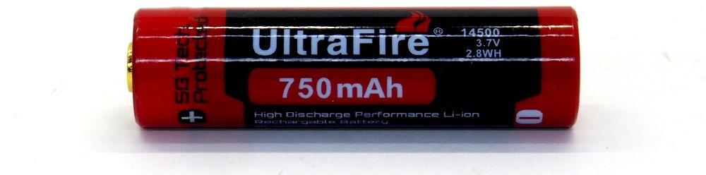 UltraFire BRC 14500 lítium-ion akku