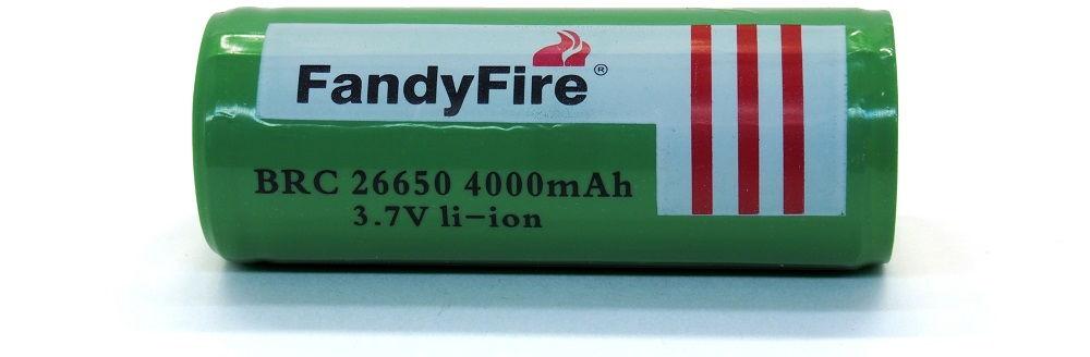 FandyFire BRC26650 lítium-ion akku