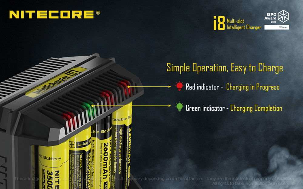Nitecore i8 operation banner