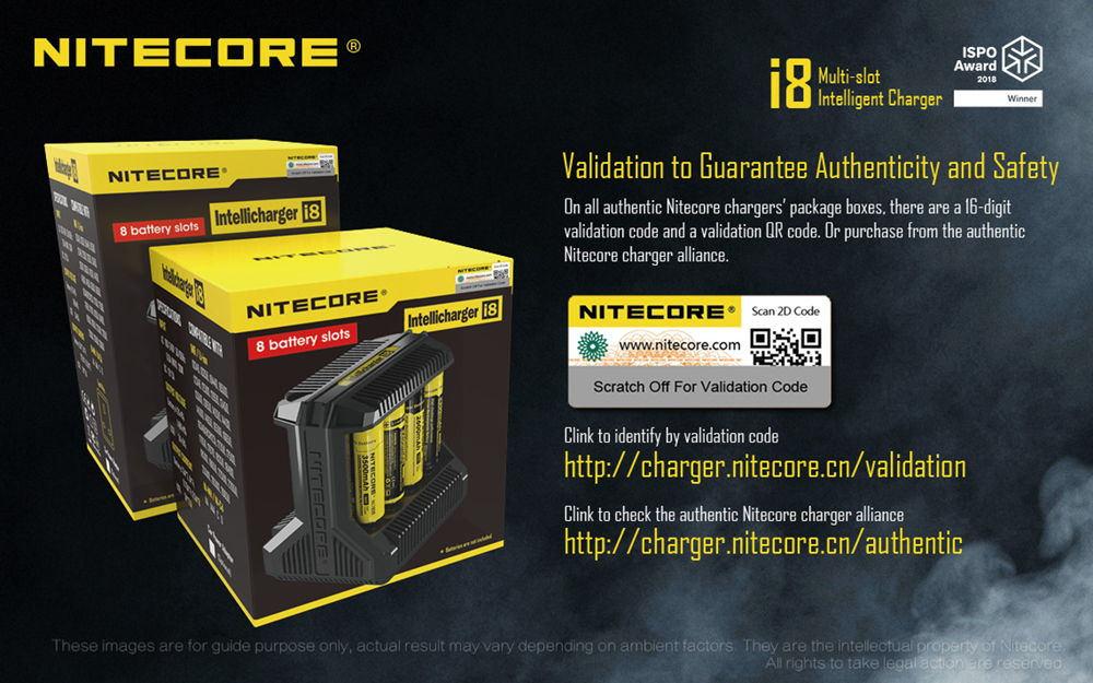 Nitecore i8 validation banner
