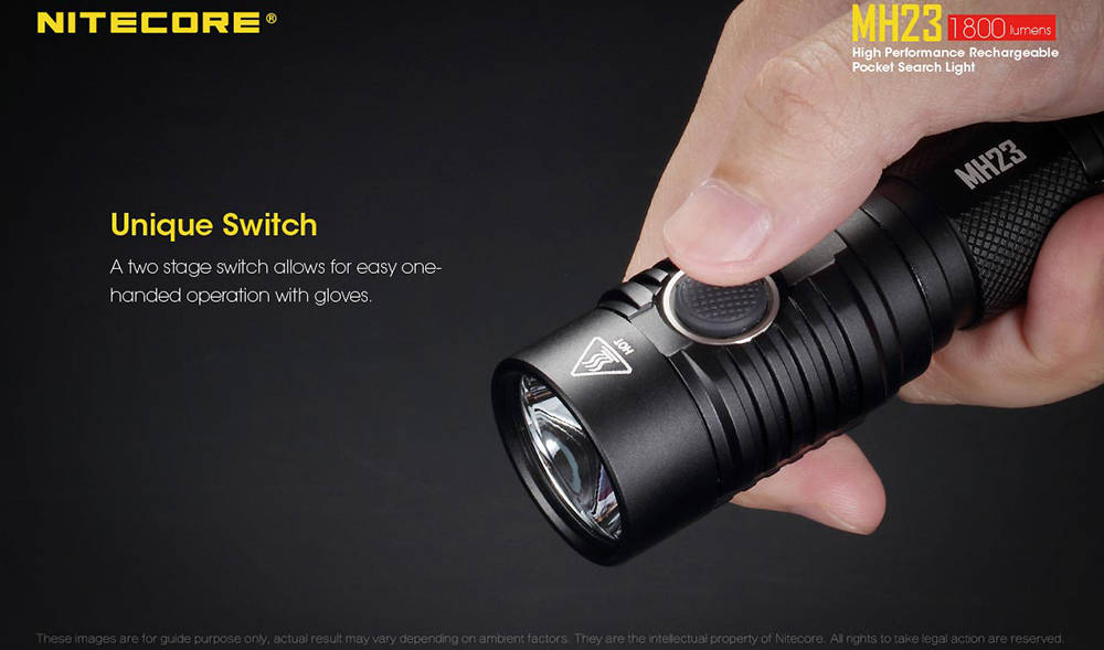 Nitecore MH23 switch banner