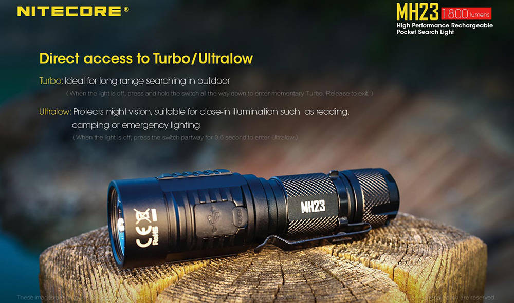 Nitecore MH23 direct access banner