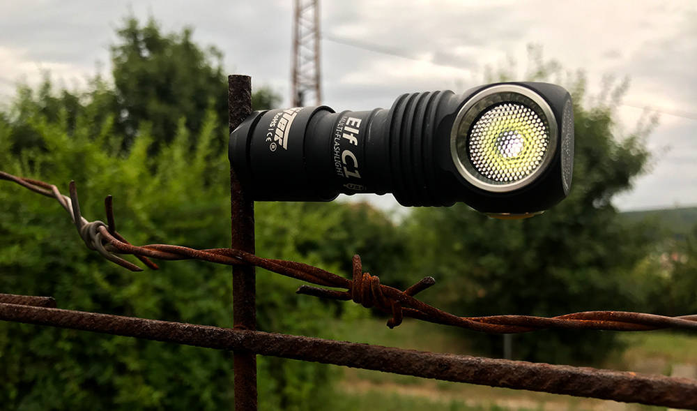 Armytek Elf C1 barb wire