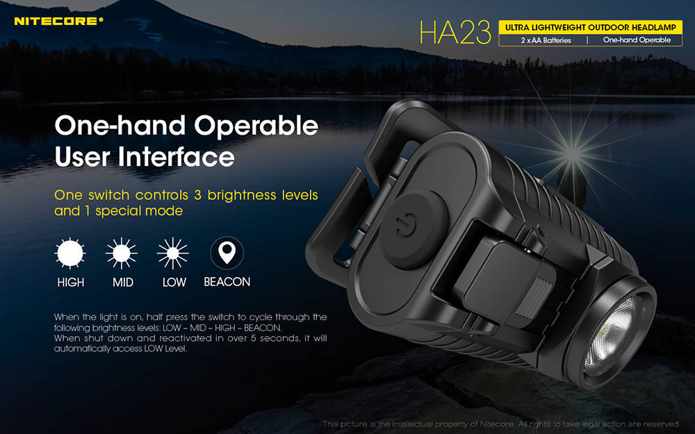 Nitecore HA23 interface banner