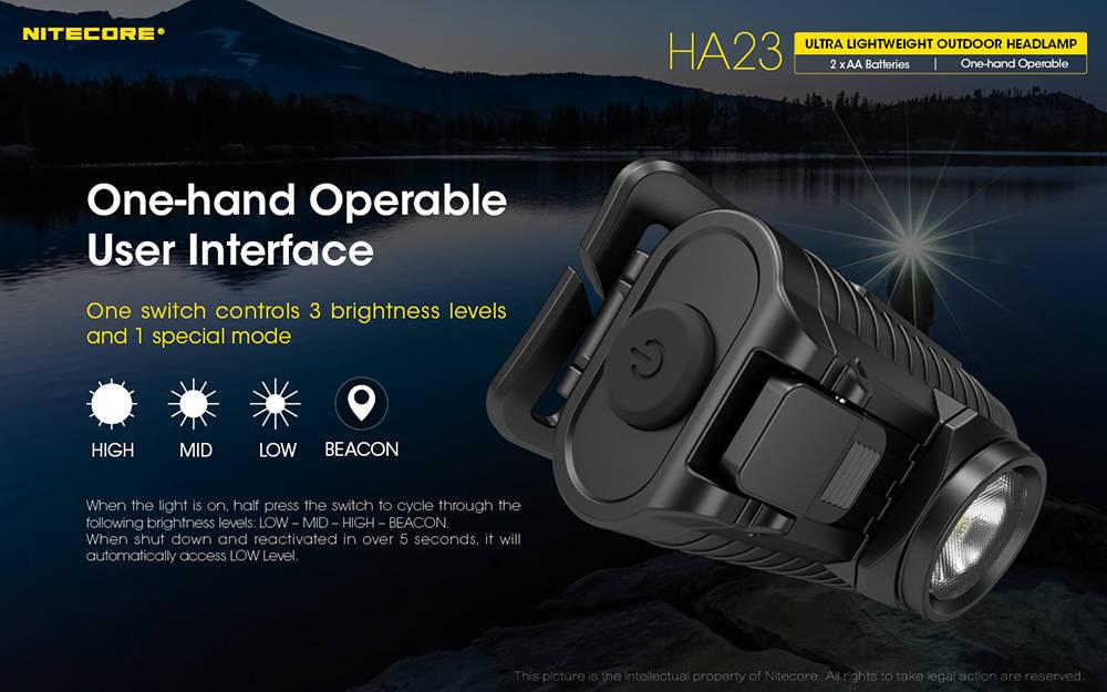 Nitecore HA23 interface banner