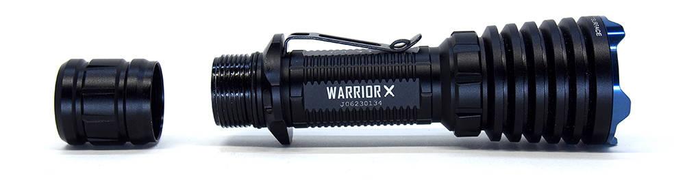 Olight Warrior X szétbontva