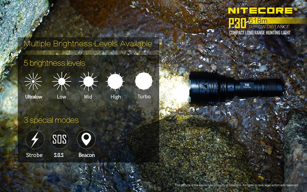 Nitecore P30 Brightness banner
