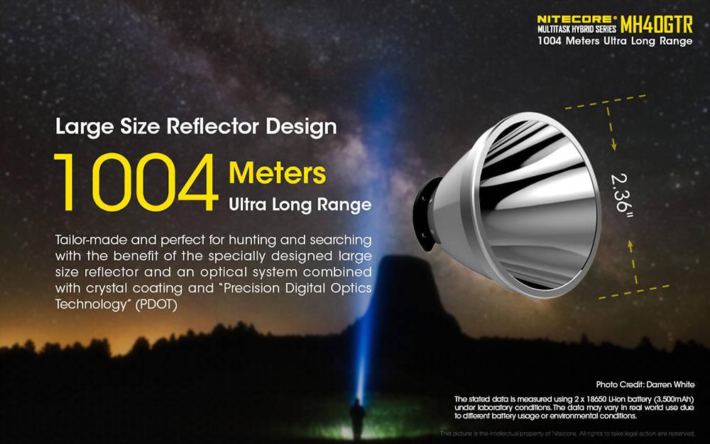 Nitecore MH40GTR reflector banner
