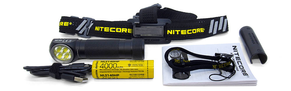Nitecore HC35 tartozékok