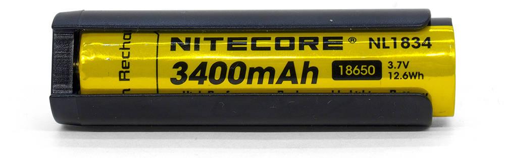 Nitecore HC35 18650 adapter akkuval
