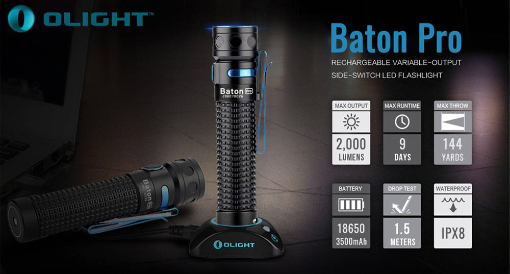 Olight Baton Pro specification banner