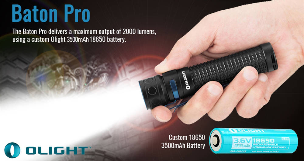 Olight Baton Pro battery banner