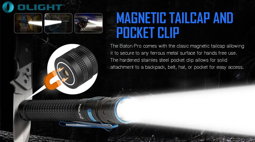 Olight Baton Pro magnet banner