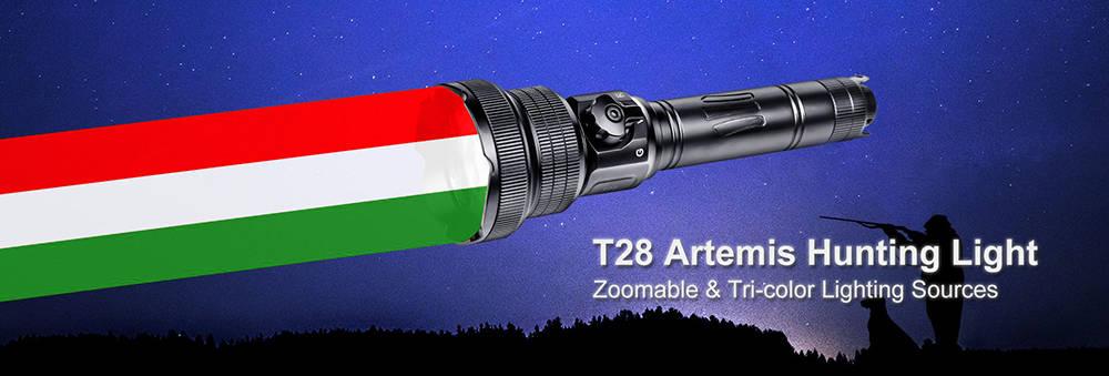 Brinyte T28 Artemis color banner
