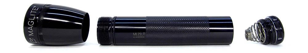 Maglite ML25LT szétbontva