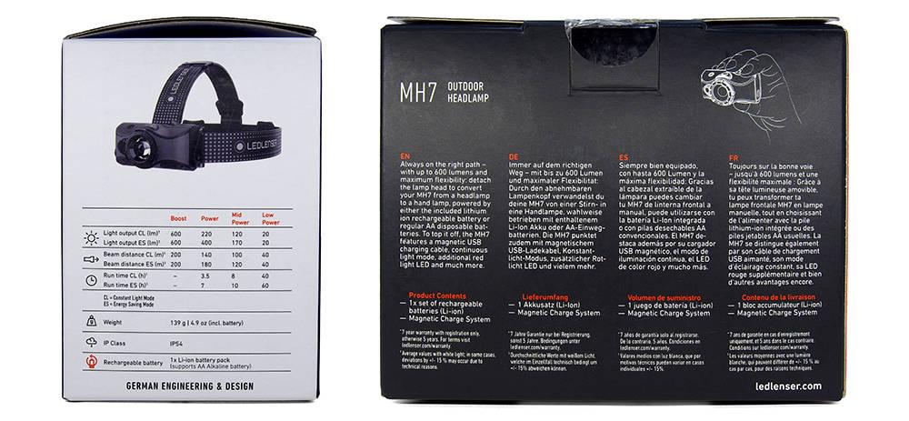 Ledlenser MH7 doboz hátulja