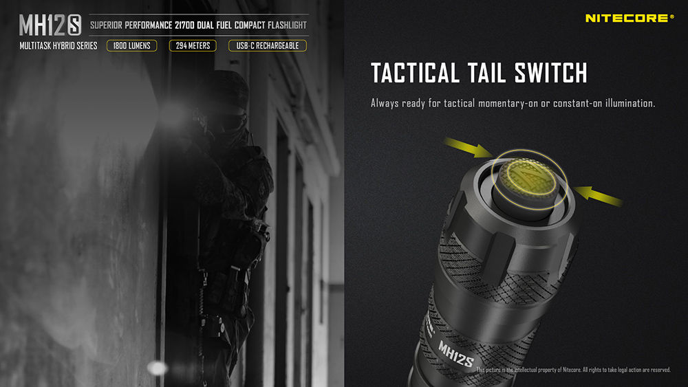 Nitecore MH12S tail switch banner